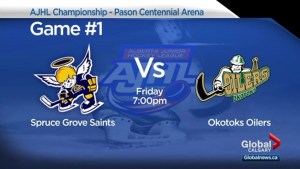 Okotoks Oilers, Spruce Grove Saints set to battle for AJHL championship