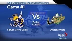 Okotoks Oilers, Spruce Grove Saints set to battle for AJHL championship