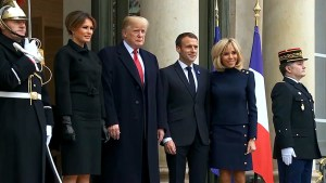 Trump, Macron hold bilateral meeting in Paris