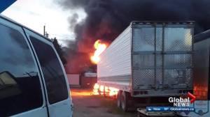 Fire near Edmonton grocery store was deliberately set