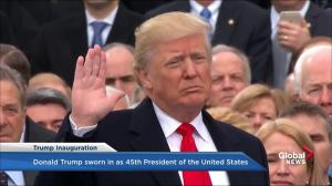 Trump inauguration: Donald Trump takes oath of office