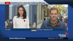 Montrealers line-up in near-freezing temperatures days ahead of shoe launch
