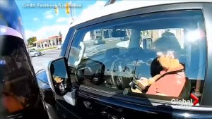 Ottawa motorcycle rider captures woman texting and driving on his helmet camera