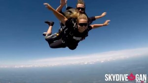 Sky-diving for The Happy Soul Project