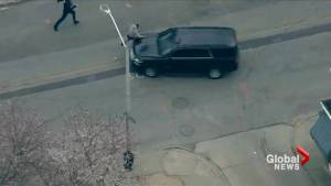 Video shows Baltimore Police chase ending with 3 arrests, with one suspect hit by two vehicles