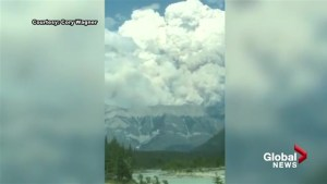 Wildfire burns in Kootenay and Banff national parks