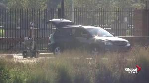 Bomb disposal robot deployed following security alert at Andrews Air Force Base
