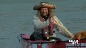 Canoeing across country for a cause