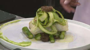 Spring menu: Fresh halibut and asparagus from YEW Seafood and Bar