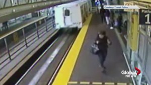 Coffee cup Skytrain assault caught on camera