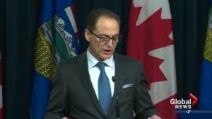 Alberta government's wage freeze