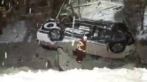 Victims trapped in vehicles involved in Coquihalla Highway crash transported to hospital: police (00:53)