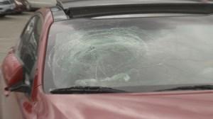 B.C. couple shaken after concrete blocks strike car under Highway 1 overpass