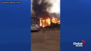 Fort McMurray Wildfire: Resident flees as fire surrounds him