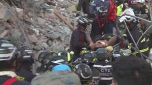Rescuers pull man alive from Ecuador quake wreckage