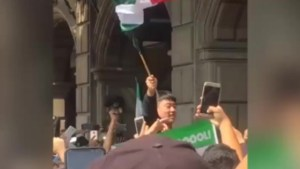 Soccer fans surround South Korean embassy in Mexico City to celebrate World Cup win