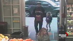 Surveillance video of Andrew Berry and children