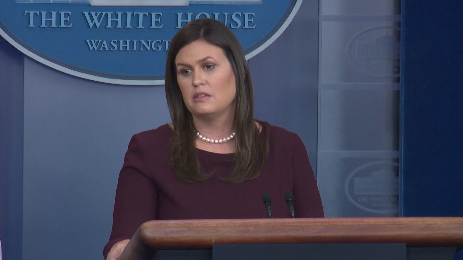 Sarah Sanders's Correction of Jobs Stats Felt Rare Because It Was