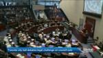 Toronto city hall debates council cuts at special meeting