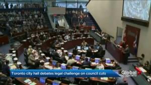 Toronto city hall debates council cuts at special meeting (02:45)