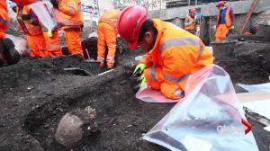 Looking for clues about England's past after construction crew unearths burial site