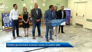 Ontario's government reverses course on autism plan