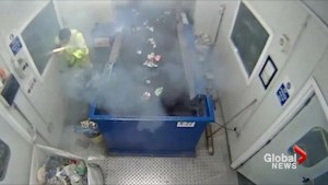 Flare explodes in recycling plant worker's hands