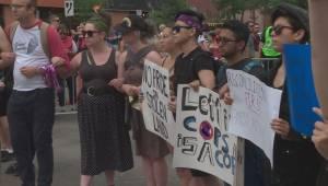 Demonstration briefly stalls Edmonton Pride Parade