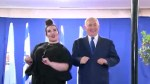 "Netanyahu does the ""chicken dance"" with Israeli Eurovision winner"