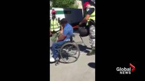 Montreal cop under fire after confrontation with man in wheelchair (02:16)