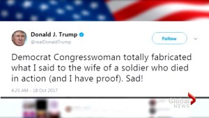 Questions being raised about content of Trump's conversation with family of fallen soldier