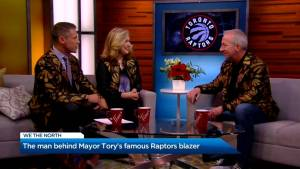 The man behind Mayor Tory's famous Raptors jacket