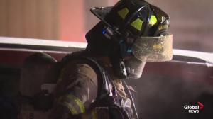 Frigid temperatures prove difficult for Edmonton firefighters