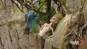 Plastic chokes Vietnam's shoreline