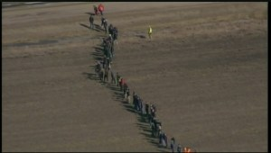 RAW: Global's Skyview-1 overhead as the search is underway for missing two-year-old