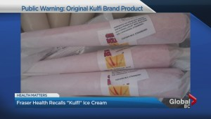 "Fraser Health recalls ""Kulfi"" Ice Cream"