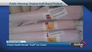 "Fraser Health recalls ""Kulfi"" Ice Cream"