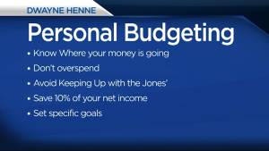 Dwayne Henne from KCCU offers tips for Personal Budgeting