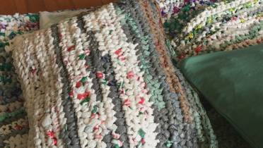 West Island Woman Crochets Plastic Bags Into Mats For Homeless