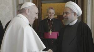 Iranian President Rouhani arrives at Vatican to meet Pope