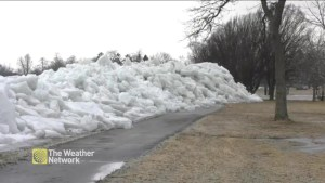 Fort Erie hit by an ice shove