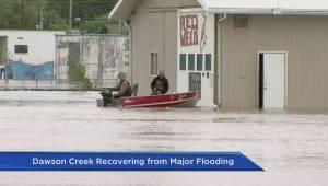 Dawson Creek residents assess flood damage to homes
