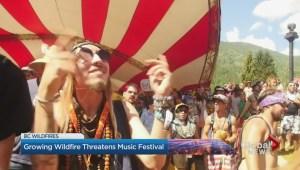 Growing wildfire threatens Shambhala Festival