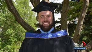 Eskimos' offensive lineman finishes university degree