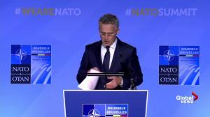 Jens Stoltenberg updates on first working meeting of NATO summit