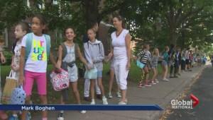 Parents, teachers and students protest Quebec education cuts