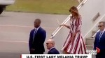 U.S. First Lady Melania Trump arrives in Ghana on solo African trip