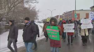 Montrealers protest against abandoned electoral reform