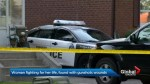 Woman in life-threatening condition after being found with gunshot wounds in Toronto's east end.