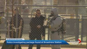 Toronto police deem suspicious package safe, service resumes at Broadview Station